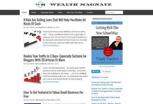 profitable blog wealth magnate