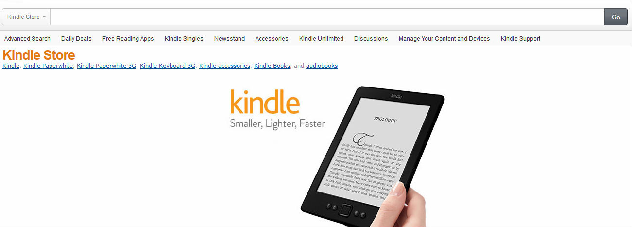 the amazon kindle store