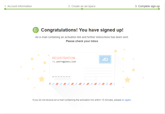 admitad complete registration